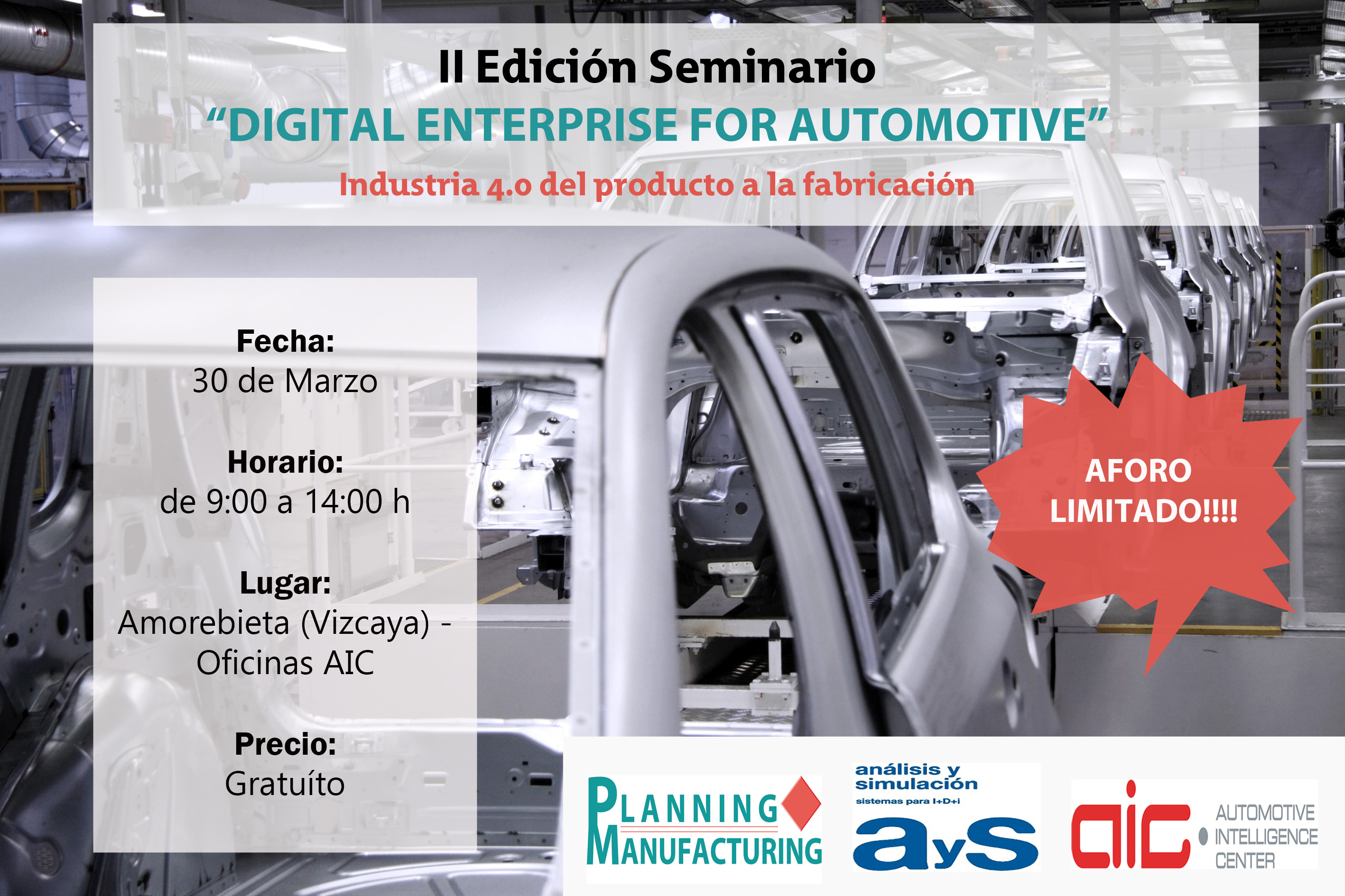 ¡Últimas Plazas! Seminario Digital Enterprise for Automotive - II Edición